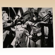 Adam West and Burt Ward -ORIGINAL Batman and Robin - Photograph, Hand-Signed By Both, With COA