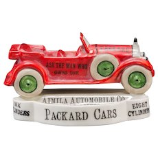 VERY RARE - Bombay, India, Packard Dealer Advertising Desk Tray, Porcelain, Circa 1950