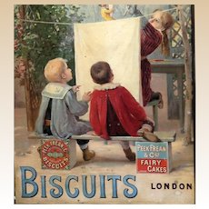 Peek,  Frean & Co's  Framed Biscuit Advertisement. London, Circa 1900 - 1920s