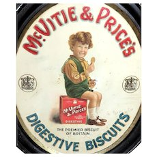 Framed  McVitie & Price Biscuit Advertisement Tray or Wall Art - Circa