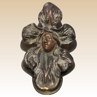 ART NOUVEAU Large Desktop Paper Clip - Woman Within A Flower