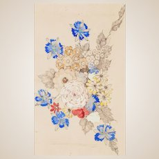 "ANNIE FRENCH (Scottish 1872 - 1965) - Original Signed Watercolor ""Flowers"""