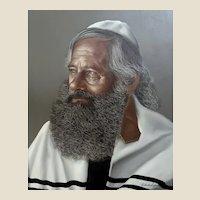 ROBERTO LUPETTI (Italian 1918 - 1997) -  Original Signed Portrait Oil On Canvas