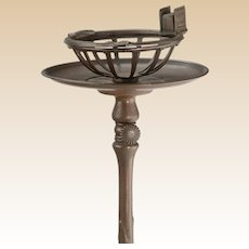 TIFFANY STUDIOS (New York) Bronze Telescopic Stand  - Signed - Circa 1910
