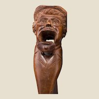 Bavarian (Oberammercau) Black Forest Well-Carved Wood Figural Nutcracker - Signed, Circa 1910/1920s