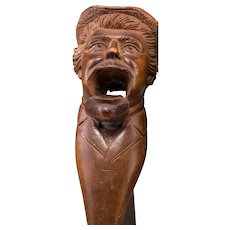 Bavarian (Oberammercau) Black Forest Well-Carved Wood Figural Nutcracker - Signed, Circa 1910/1920s