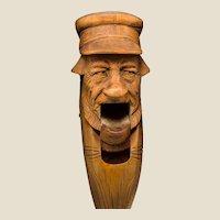 Antique Bavarian Carved Wood Figural Nutcracker, Circa 1900/1910