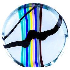 Murano Oggetti Art Glass Orb Sculpture by Livio Segusso, Mid vCentury