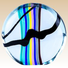 Murano Oggetti Art Glass Orb Sculpture by Livio Segusso, Mid vCentury