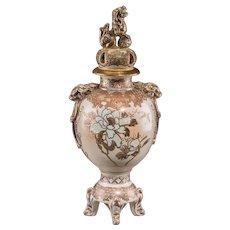 Japanese Satsuma Porcelain Censer, late Meiji Period, circa 1880-1900