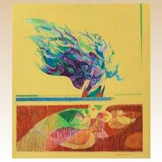 "FRED BINDER SAMUELSON (American, 1925 -  2015) - Original Signed Oil On Canvas ""Marshland Feeders"""