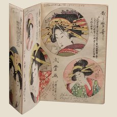 Antique Japanese Prints, 19th Century, Book Form