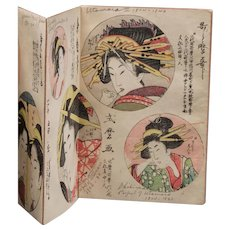 Antique Japanese Prints, 19th Century, Book Form