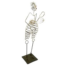 "VINCENT MAGNI (French b. 1963)  ""Dancing Woman"" Signed Original Metal Kinetic Sculpture"