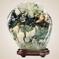 Chinese Henan Hsiuyen Scholar's Rock With Custom Stand and Fitted Box