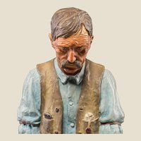 """HARRY ANDREW JACKSON ((American 1924 - 2011) - Bronze Sculpture  - """"Old Timer""""  Ltd Ed 3/40 Signed/Dated 1970 - With Notarized COA from Artist"""