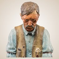 """HARRY ANDREW JACKSON ((American 1924 - 2011) Wonderful Western Artist - Bronze Sculpture With Polychrome - """"Old Timer""""  Ltd Ed 3/40 Signed/Dated 1970"""