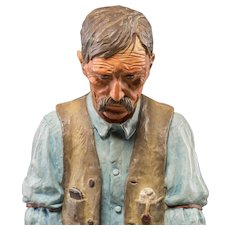 "HARRY ANDREW JACKSON ((American 1924 - 2011) Wonderful Western Artist - Bronze Sculpture With Polychrome - ""Old Timer""  Ltd Ed 3/40 Signed/Dated 1970"