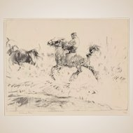 "EDMUND BLAMPIED (British, 1886 - 1966) - Signed/Numbered Lithograph  ""Splash! Splash!""  Ed.  1/12"