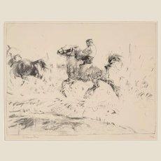 "EDMUND BLAMPIED (British, 1886 - 1966) - Signed/Numbered Lithograph  ""Splash! Splash!""  Ed.  1/12"