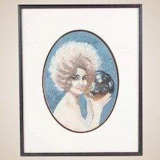 "CLARK HOBART (American 1869 - 1948)  Original Signed Gouache ""The Seer"""
