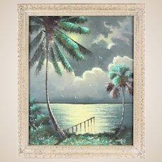 WILLIE DANIELS (American Born 1950) - Florida Highwayman Original Oil