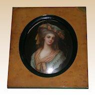 Authentic KPM - Antique Exquisite Hand-Painted Portrait Plaque of Noblewoman