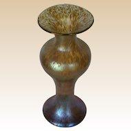 Loetz Candia Papillon Iridescent Baluster Form Tall Vase, c. 1900, breathtakingly beautiful!