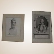 "Two 18th Century Prints - ""Pericles"" and ""Phillip of Spain"""