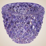 Exquisite Multi-Faceted Clear Crystal Paperweight, Unusual Shape, With Star Cut Base