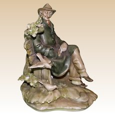 "Borsato - ""The Boulevardier"" - Jaunty and Personable Multi-Figural Porcelain Sculpture"