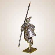 Vintage Silver Figure Of A Samurai, London, c 1976