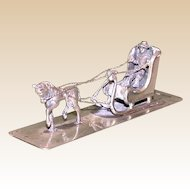 Continental Silver Miniature Horse Drawn Sleigh, c 1900