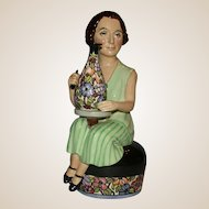 "Closed Limited Edition - Kevin Francis ""Charlotte Rhead"" modeled by sculptor Douglas V. Tootle, c. 1991"
