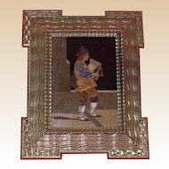 Pietra Dura - Fine Rendition of Man Playing Bagpipes,  Italian, Early 20th Century