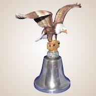 Limited Edition Eagle Club - 1984 - Bell With Eagle -Biblical Inscription - by Gorham