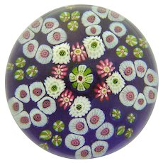 Magnificent Antique Clichy Color Ground Paperweight