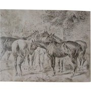 John Sturgess  (British 1869 - 1903) Original Signed Late 19th Century Drawing
