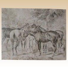 John Sturgess  (British 1869 - 1903) Original Signed Late 19th Century Drawing