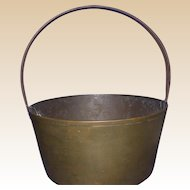 Antique Brass Pail, 19th Century, England