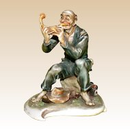 "Borsato - ""Wayfarer's Feast"" -  Another Excellent Genre Porcelain Sculpture"