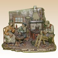 "Borsato - ""The Wooden Shoe Maker"" - Rare Multi-Figural Diorama -"