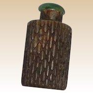 Unusual Antique Snuff Bottle - Soapstone With Corncob Pattern, c. 1900