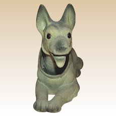 German Shepherd (Alsatian) - Bobble Head Bank - c 1950
