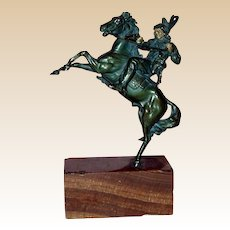 C. KAUBA (Austrian 1865 - 1922)  - Magnificent Signed Bronze Indian On Horseback