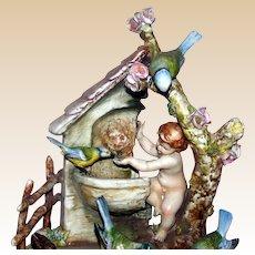 "Borsato - ""Angel Food"" - Absolutely Precious Multi-Figural Porcelain Sculpture"