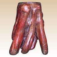 """ROOTWOOD Naturalistic Chinese Brushpot (Vase) - """"Buddha's Hand"""" -Circa 1920"""