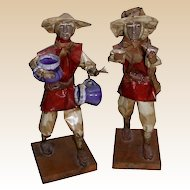 Vintage Pair of Chinese Working Men Figures