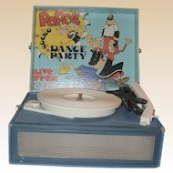 "POPEYE ""Dance Party"" Vintage Record Player By Emerson"