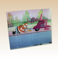 """""""Pink Panther """"Supporting Characters"""" Cartoon Cel and Drawing"""